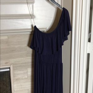 One shoulder pantsuit with pockets
